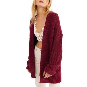 NEW Free People High Hopes Cardigan Red Small